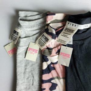 PINK Victoria's Secret 3 Shirts Size XS
